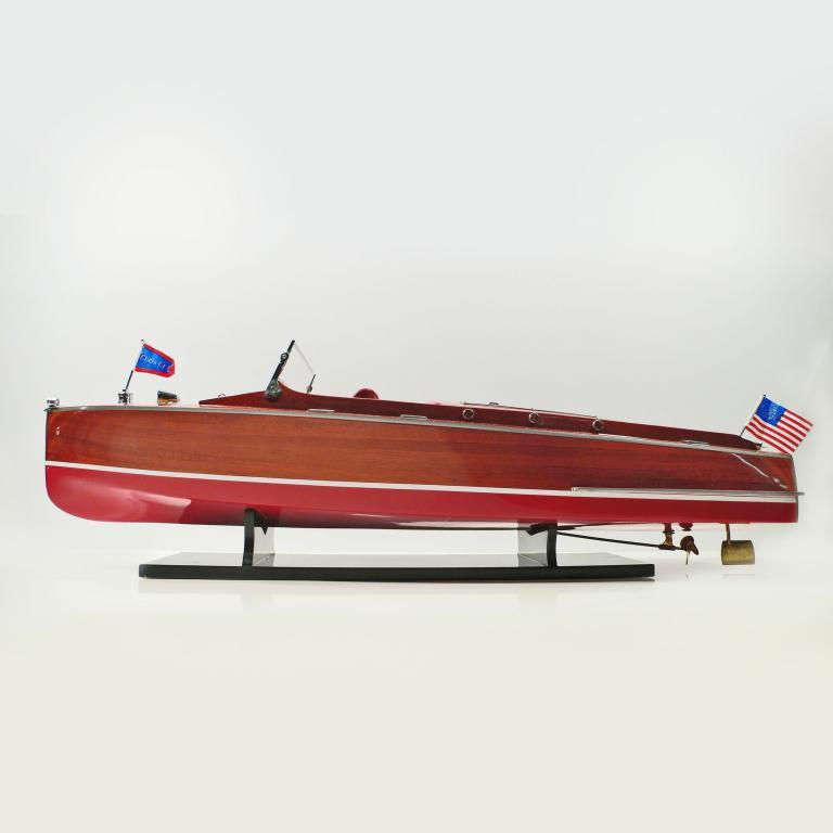 Maquette de bateau en bois faite à la main du Chris Craft Runabout