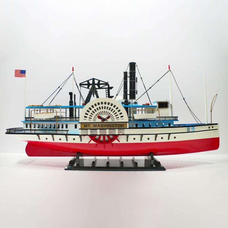 Maquette de bateau en bois faite à la main du MT Washington