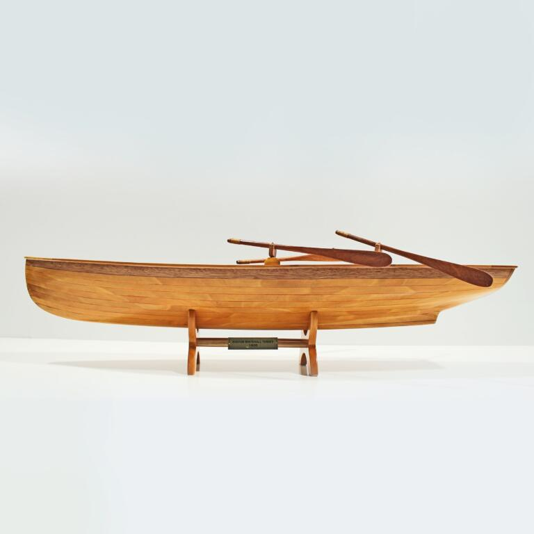 Maquette de bateau en bois faite à la main du Whitehall Boston Tenders